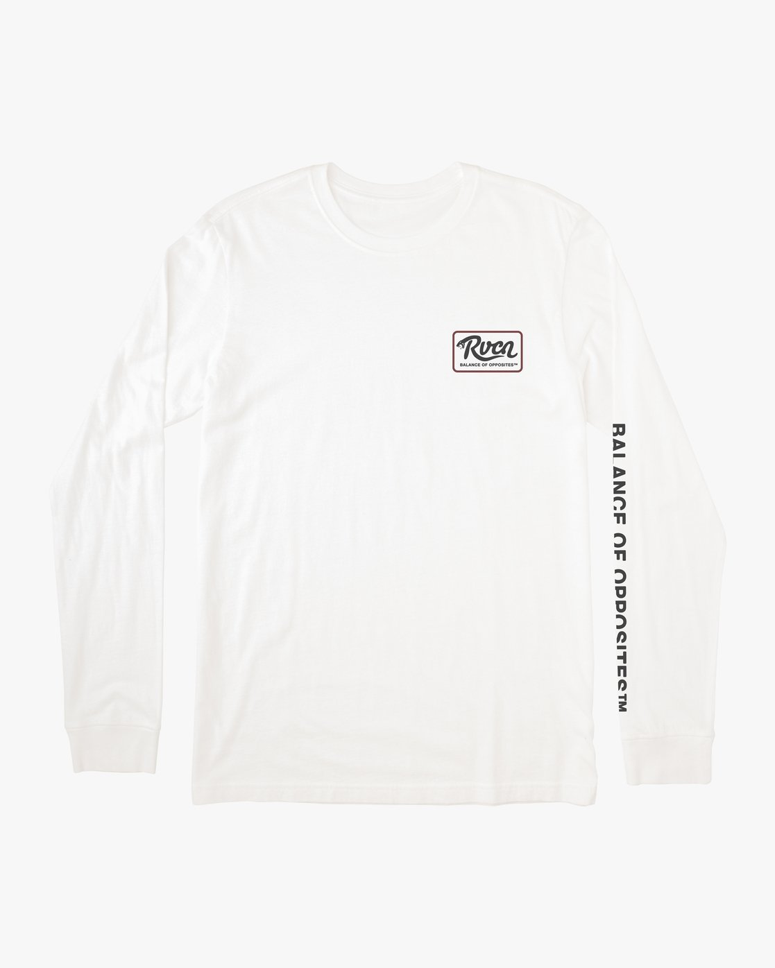 0 BOY'S HISS LONG SLEEVE TEE White AVBZT00150 RVCA