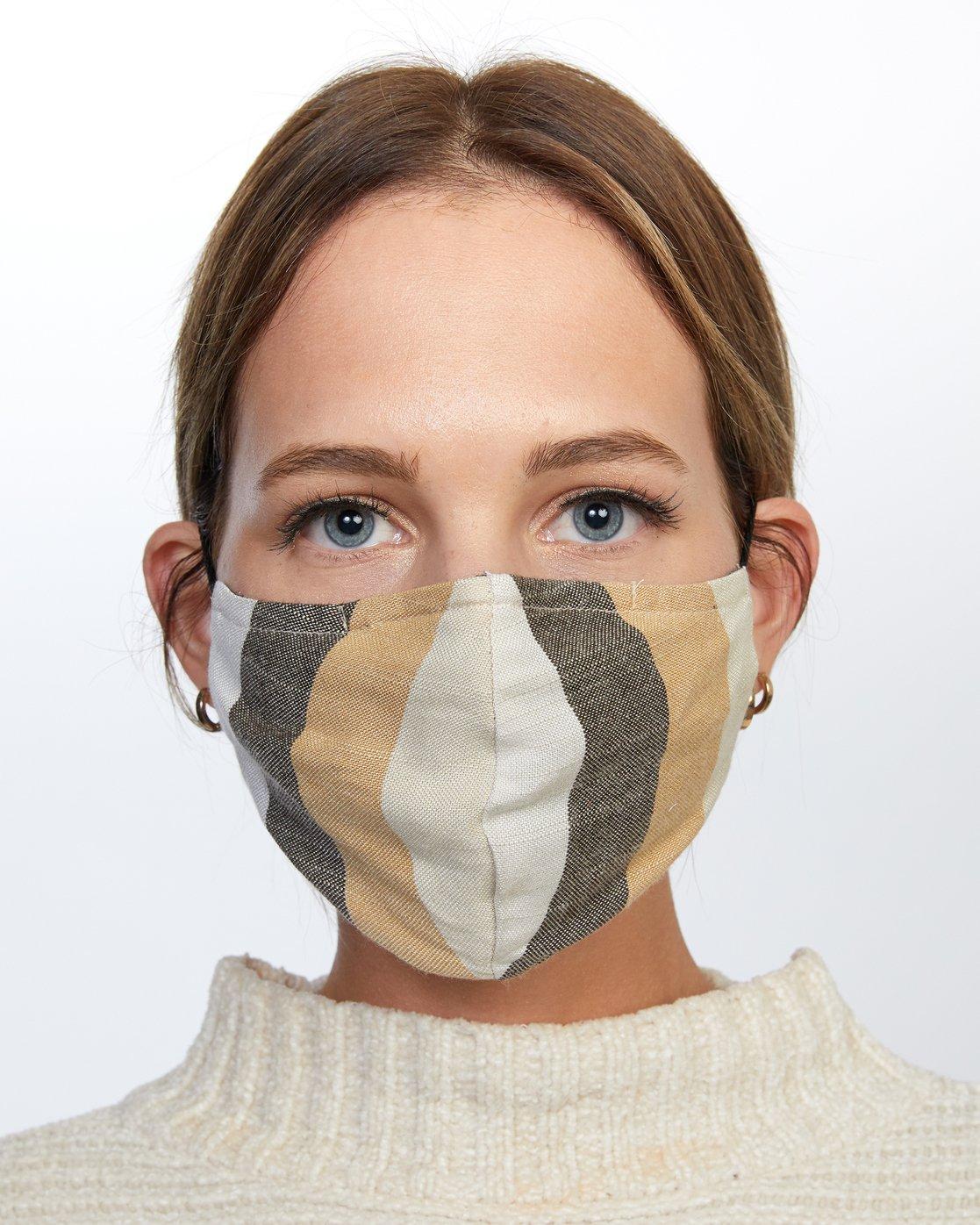 0 Mask and Scrunchie Set Grey AVJAA00101 RVCA