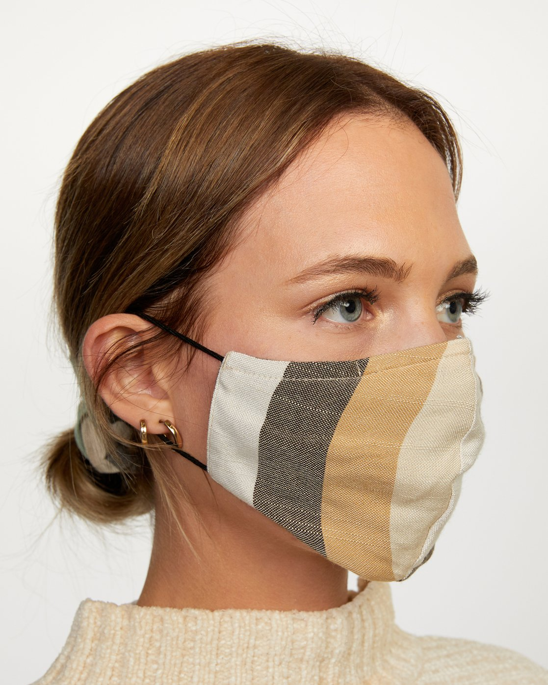 3 Mask and Scrunchie Set Grey AVJAA00101 RVCA