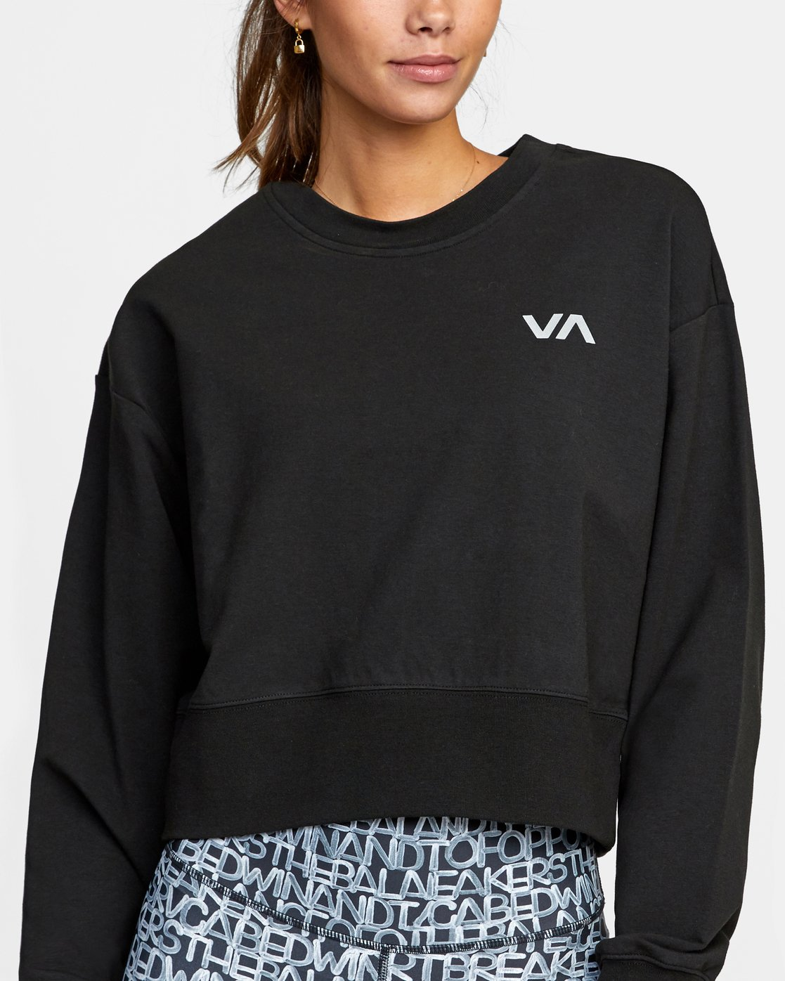 2 FASHION CREW PULLOVER SWEATSHIRT Black AVJFT00112 RVCA