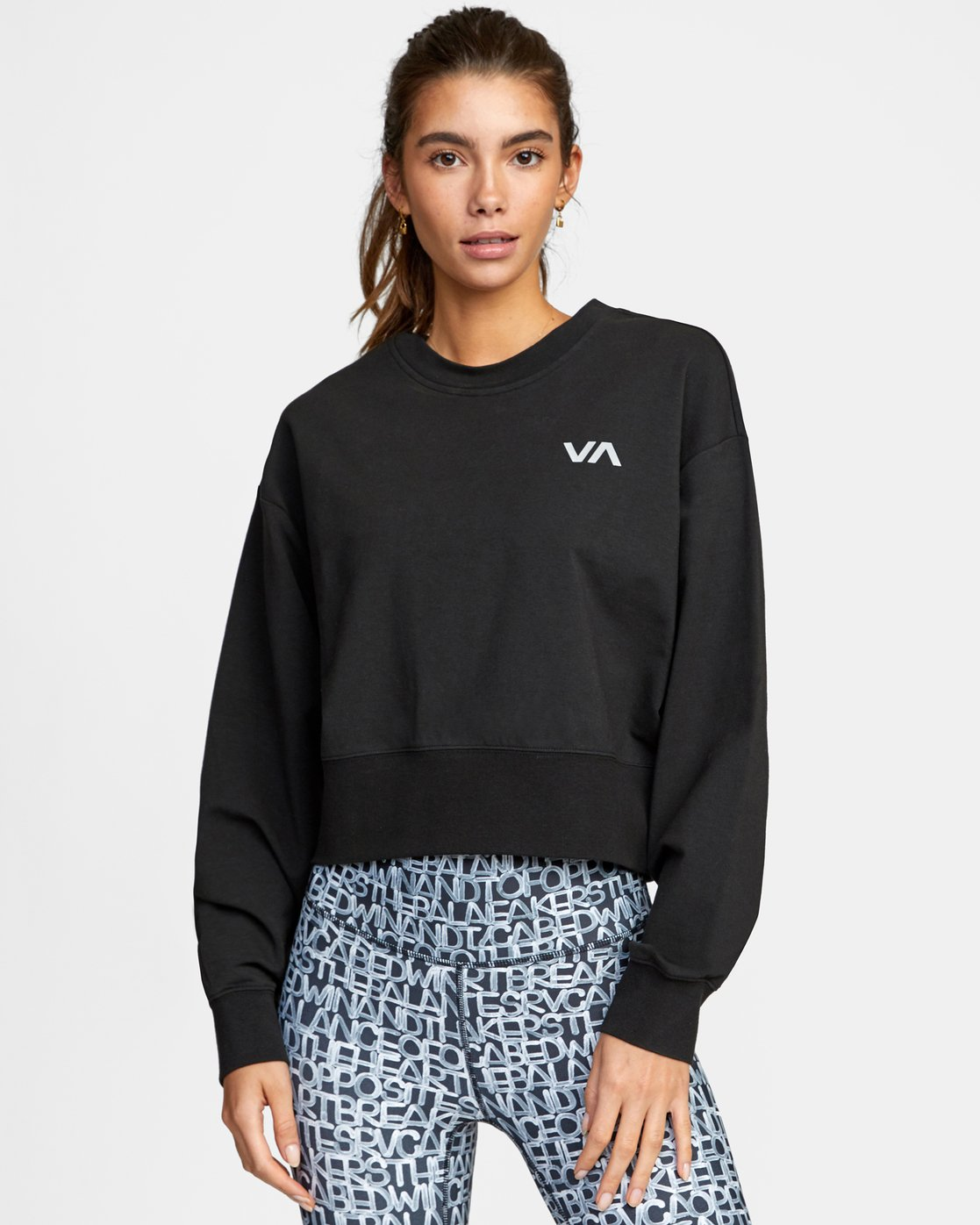 0 FASHION CREW PULLOVER SWEATSHIRT Black AVJFT00112 RVCA