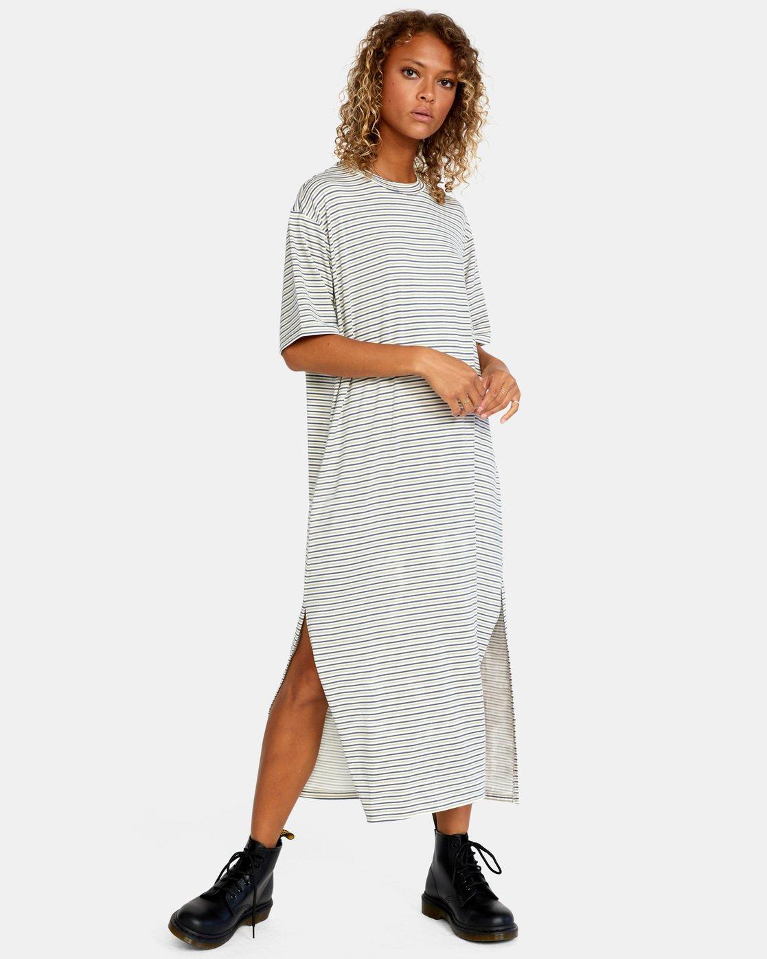 4 Anyday Tee Dress Brown AVJKD00119 RVCA