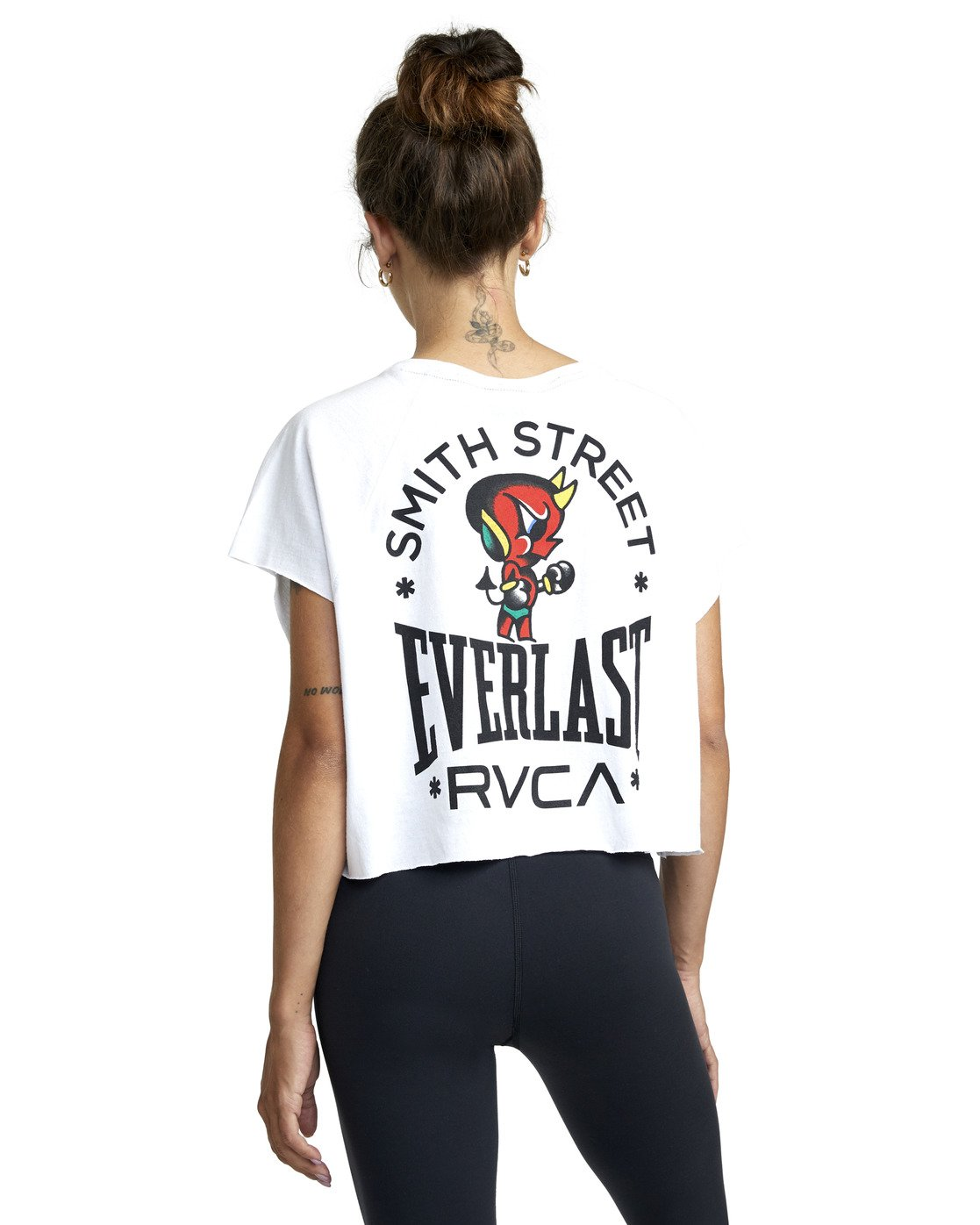 3 EVERLAST X SMITH STREET RAGLAN MUSCLE WORKOUT TANK TOP White AVJKT00127 RVCA