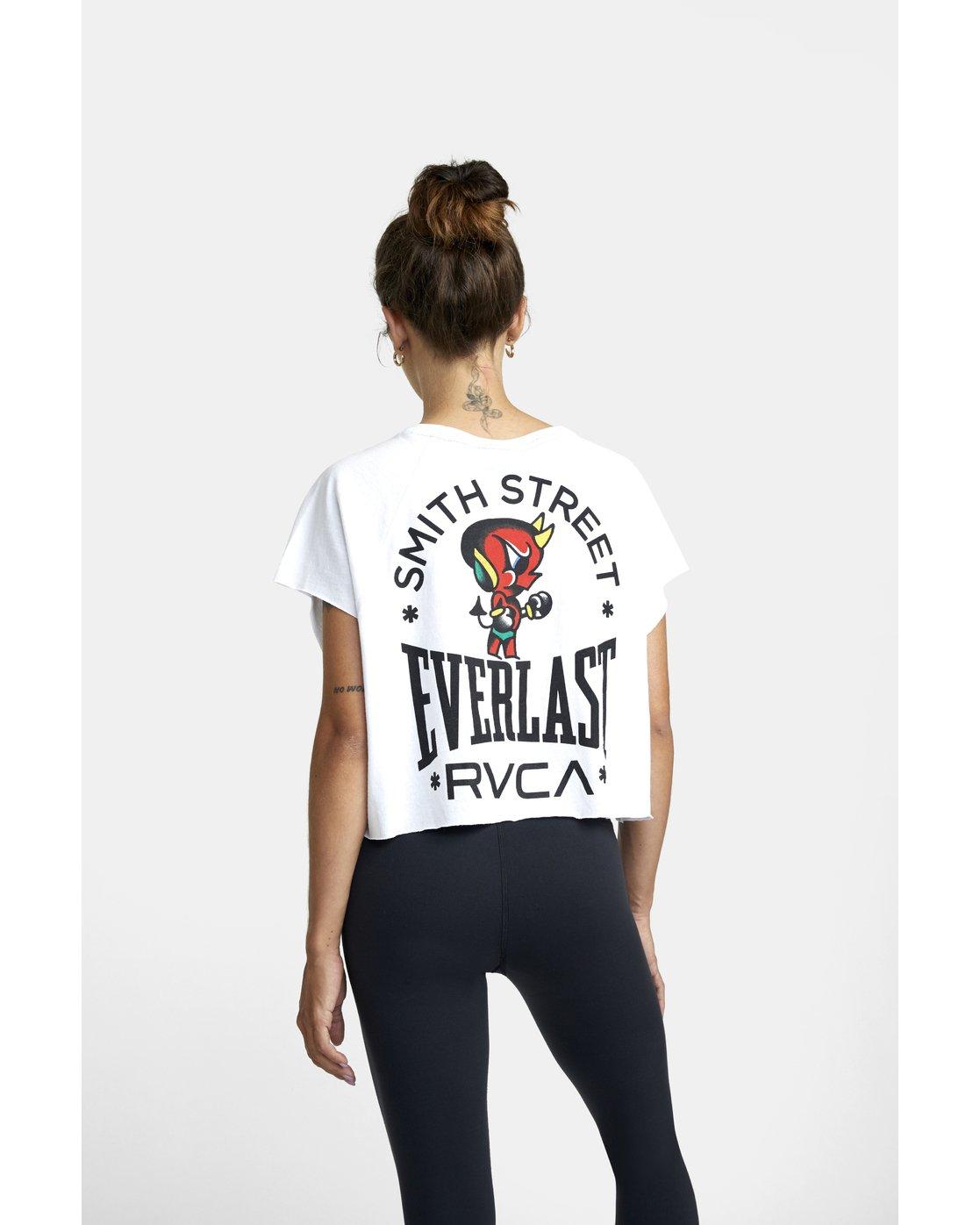 5 EVERLAST X SMITH STREET RAGLAN MUSCLE WORKOUT TANK TOP White AVJKT00127 RVCA