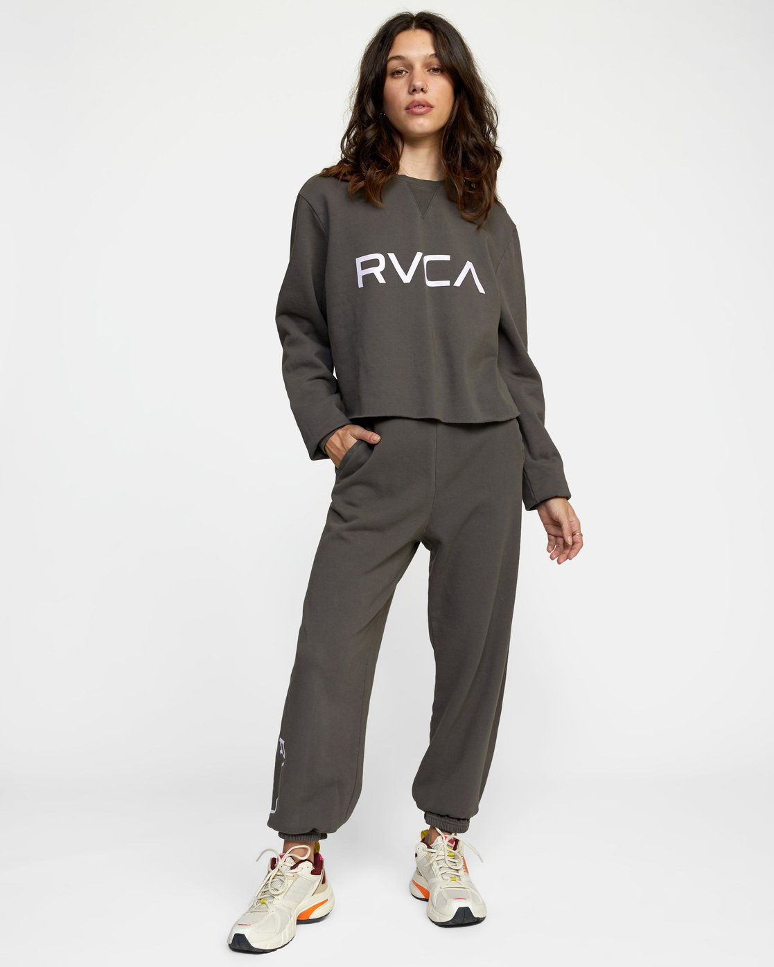 3 BIG RVCA SWEATPANT Black AVJNP00153 RVCA