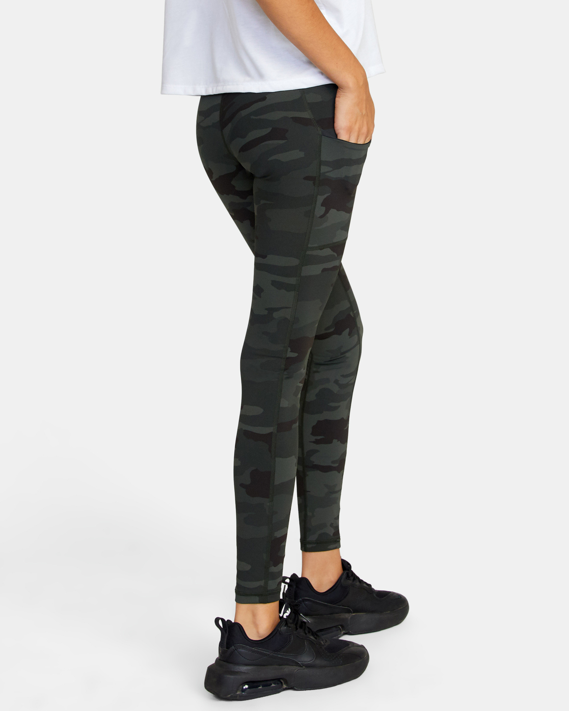 3 POCKET SPORT LEGGING II Green AVJNS00107 RVCA