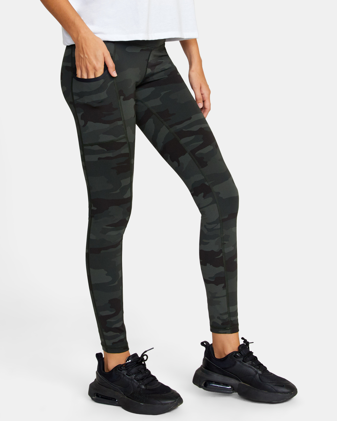4 POCKET SPORT LEGGING II Green AVJNS00107 RVCA