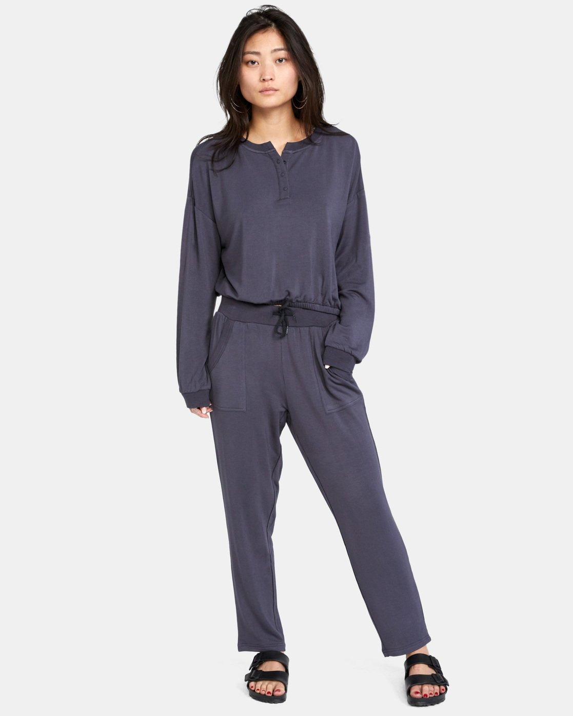 2 Downtown Pants Grey AVJPT00107 RVCA