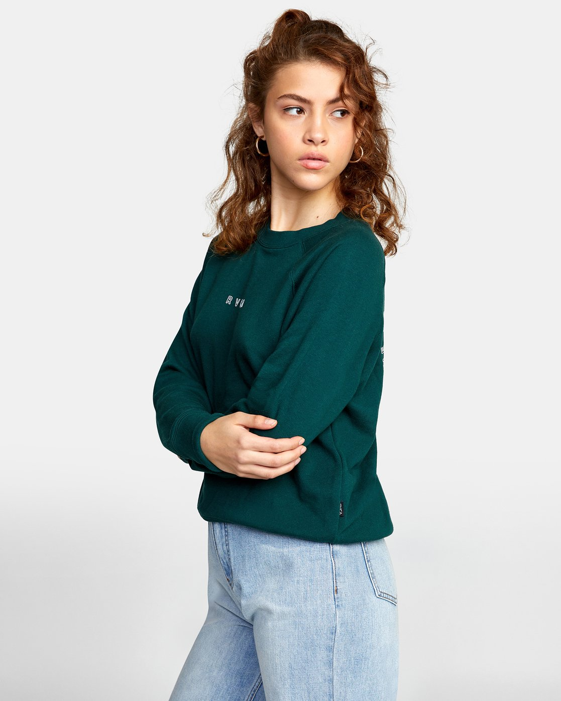 3 ROUNDED PULLOVER SWEATER Green AVJSF00104 RVCA