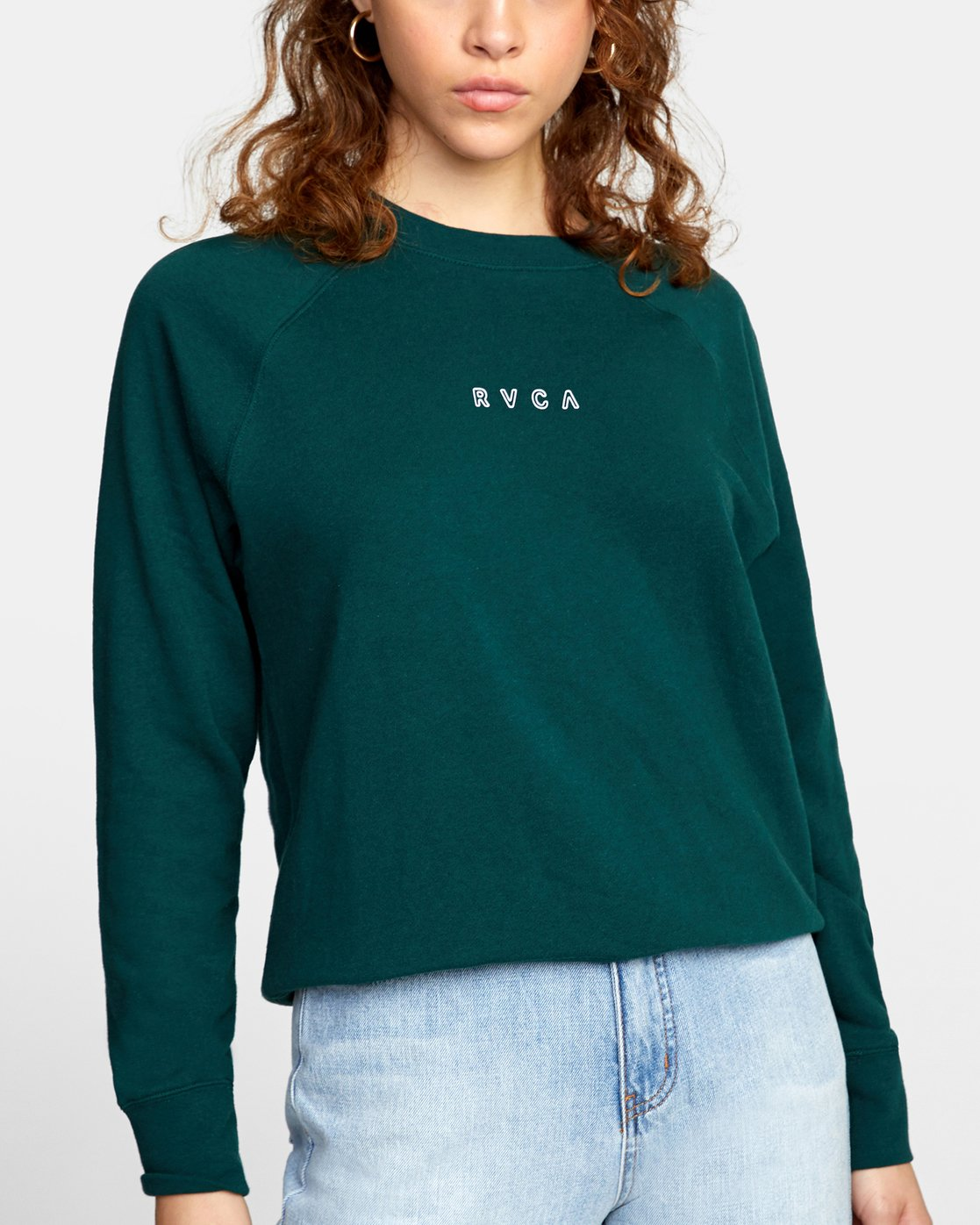 4 ROUNDED PULLOVER SWEATER Green AVJSF00104 RVCA