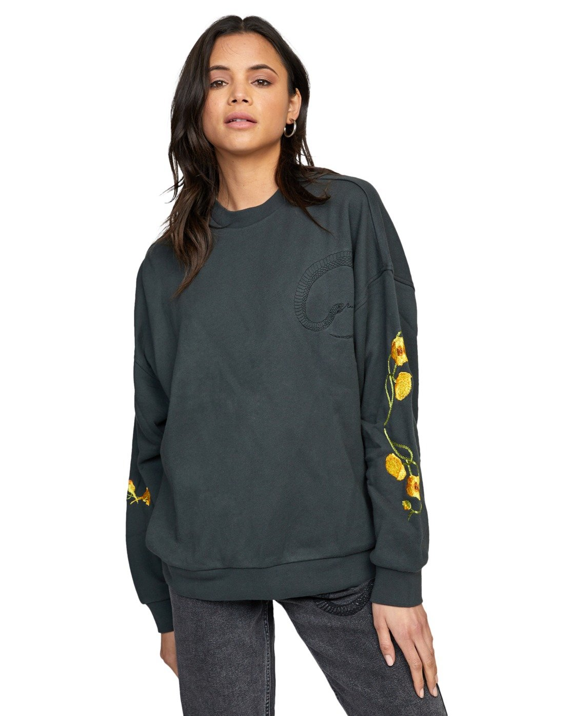 4 BOTANICALS PULLOVER SWEATER White AVJSF00110 RVCA