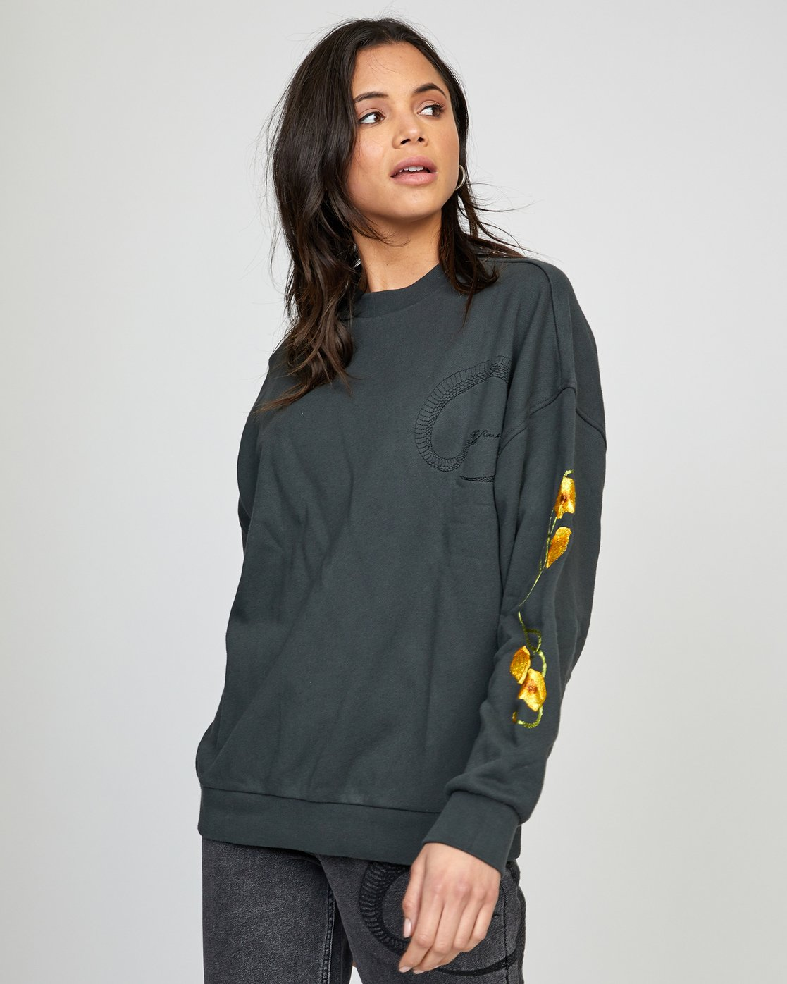 2 BOTANICALS PULLOVER SWEATER White AVJSF00110 RVCA