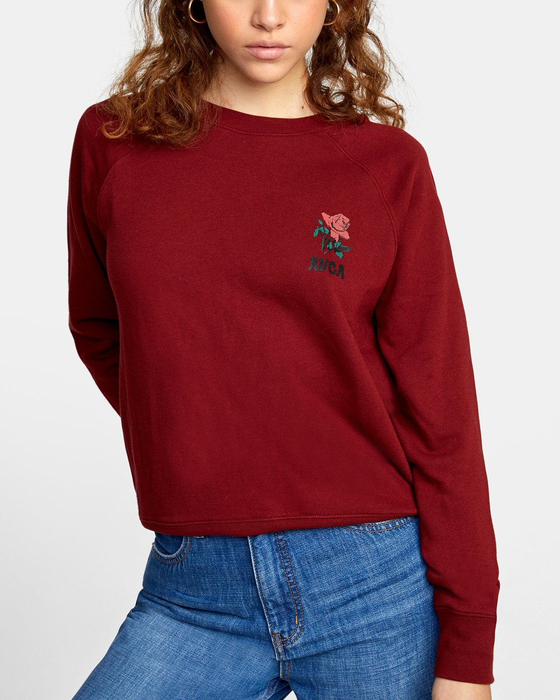 4 ROSITA PULLOVER SWEATER Red AVJSF00116 RVCA