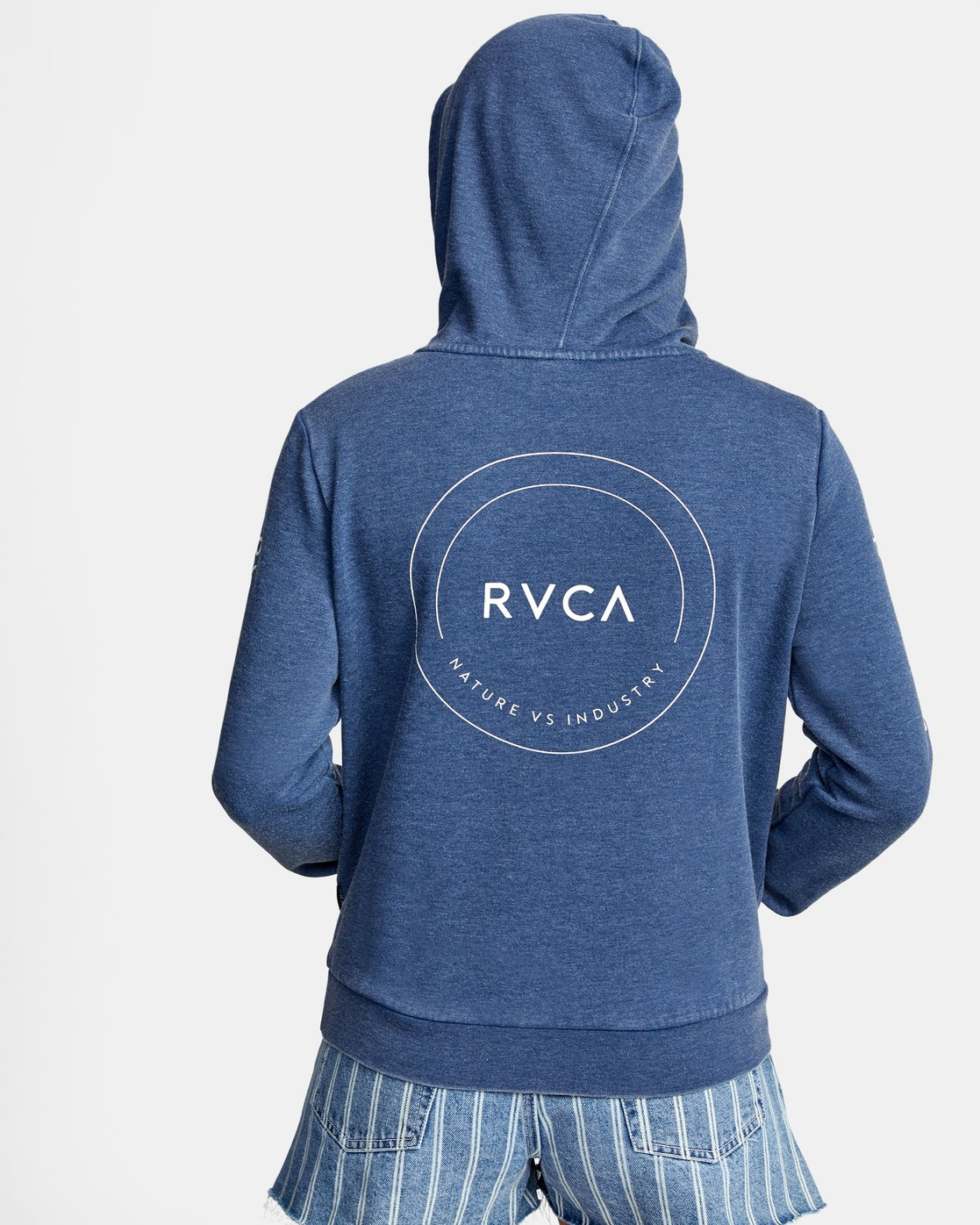 1 CLASSIC RVCA PULLOVER HOODIE Blue AVJSF00129 RVCA