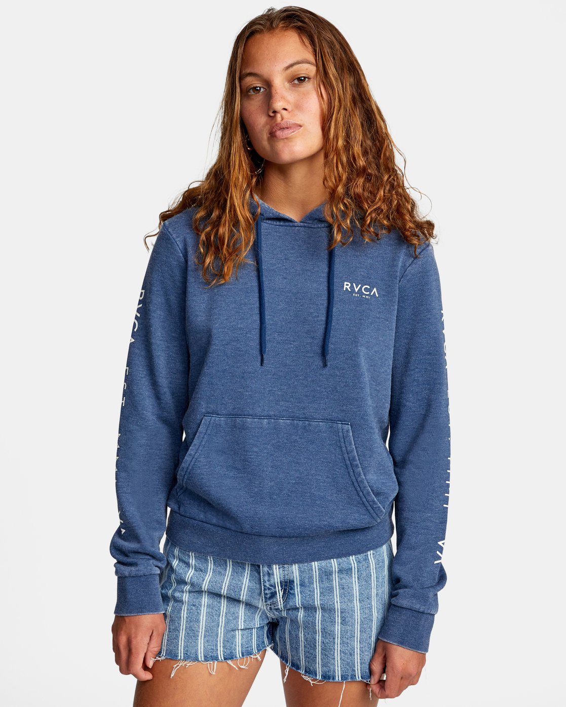 0 CLASSIC RVCA PULLOVER HOODIE Blue AVJSF00129 RVCA
