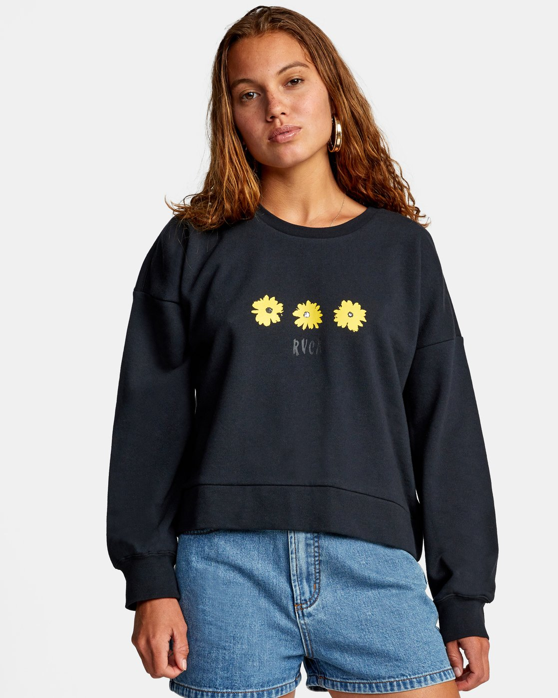 0 WILDFLOWER CREW SWEATSHIRT White AVJSF00131 RVCA