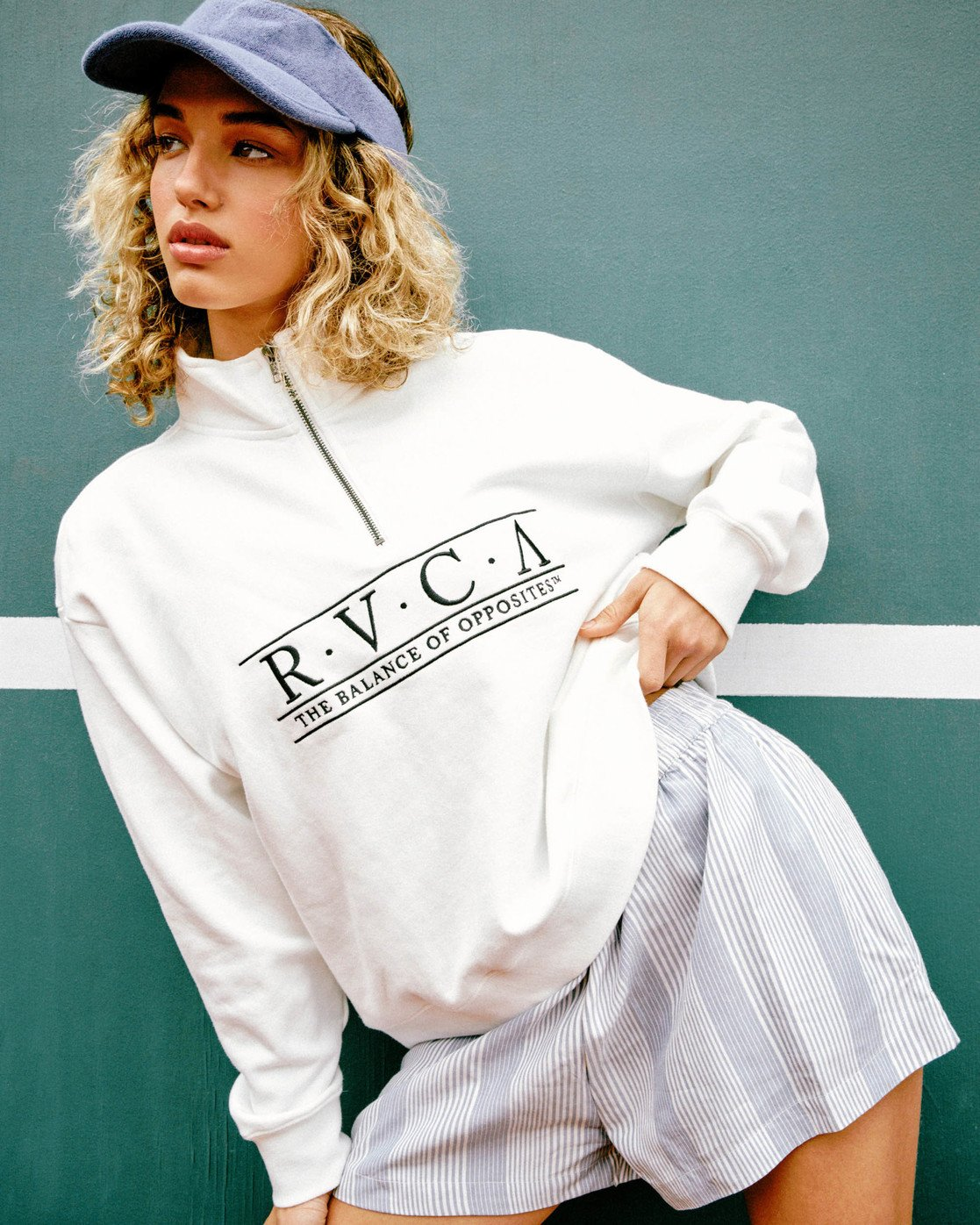 0 Constructed Fleece Sweater White AVJSF00145 RVCA