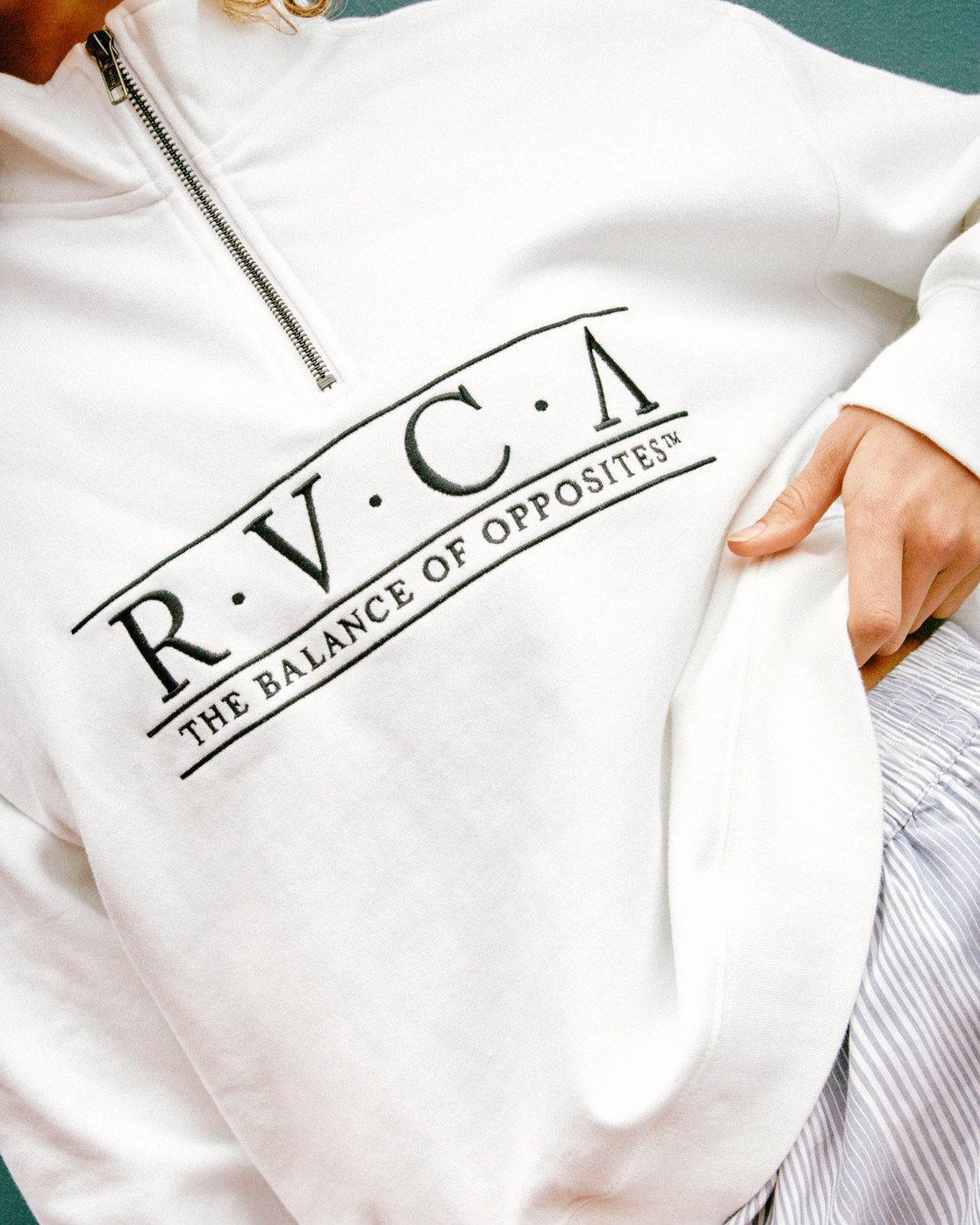 1 Constructed Fleece Sweater White AVJSF00145 RVCA
