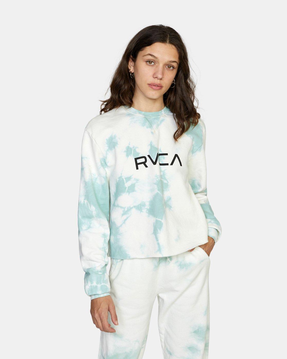 0 Big RVCA Crew Neck Sweatshirt Blue AVJSF00186 RVCA