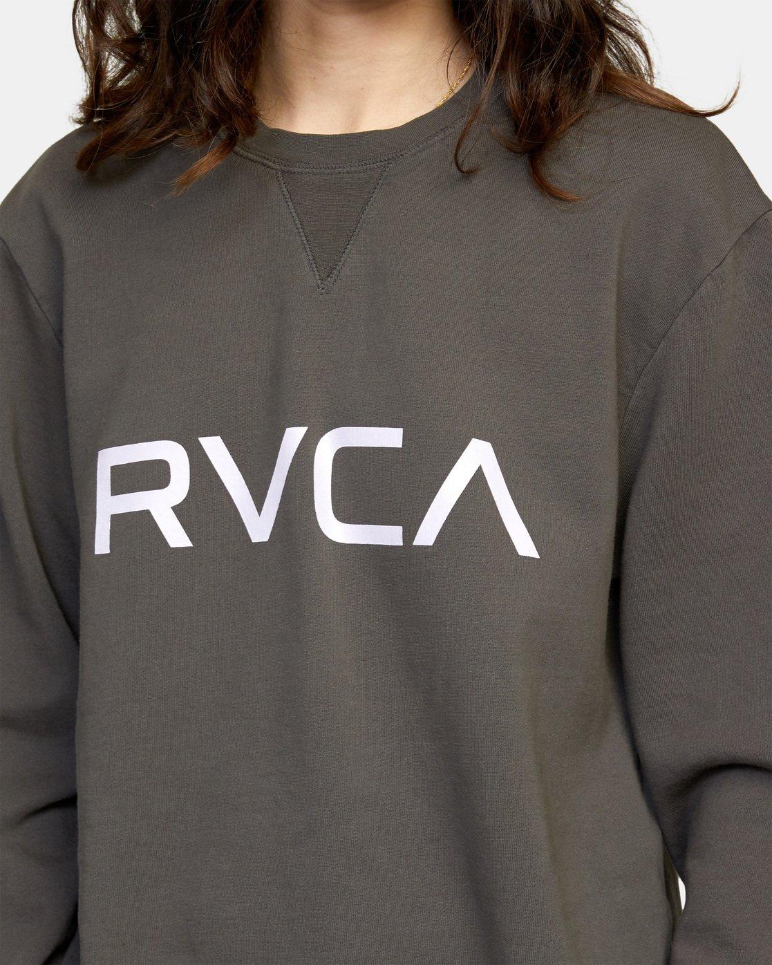 5 Big RVCA Crew Neck Sweatshirt Black AVJSF00186 RVCA