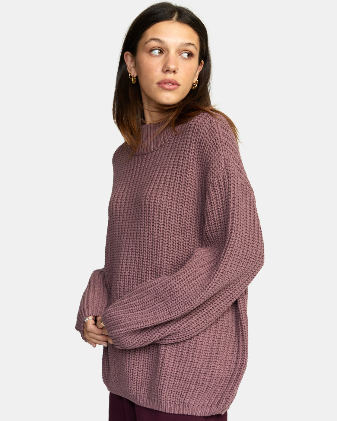 5 FITZ SWEATER Purple AVJSW00103 RVCA