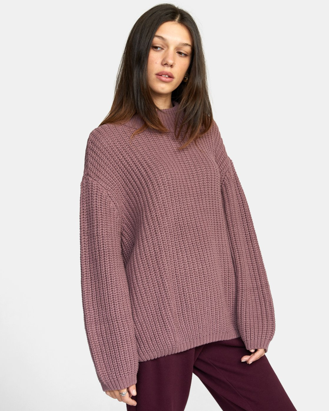 7 FITZ SWEATER Purple AVJSW00103 RVCA