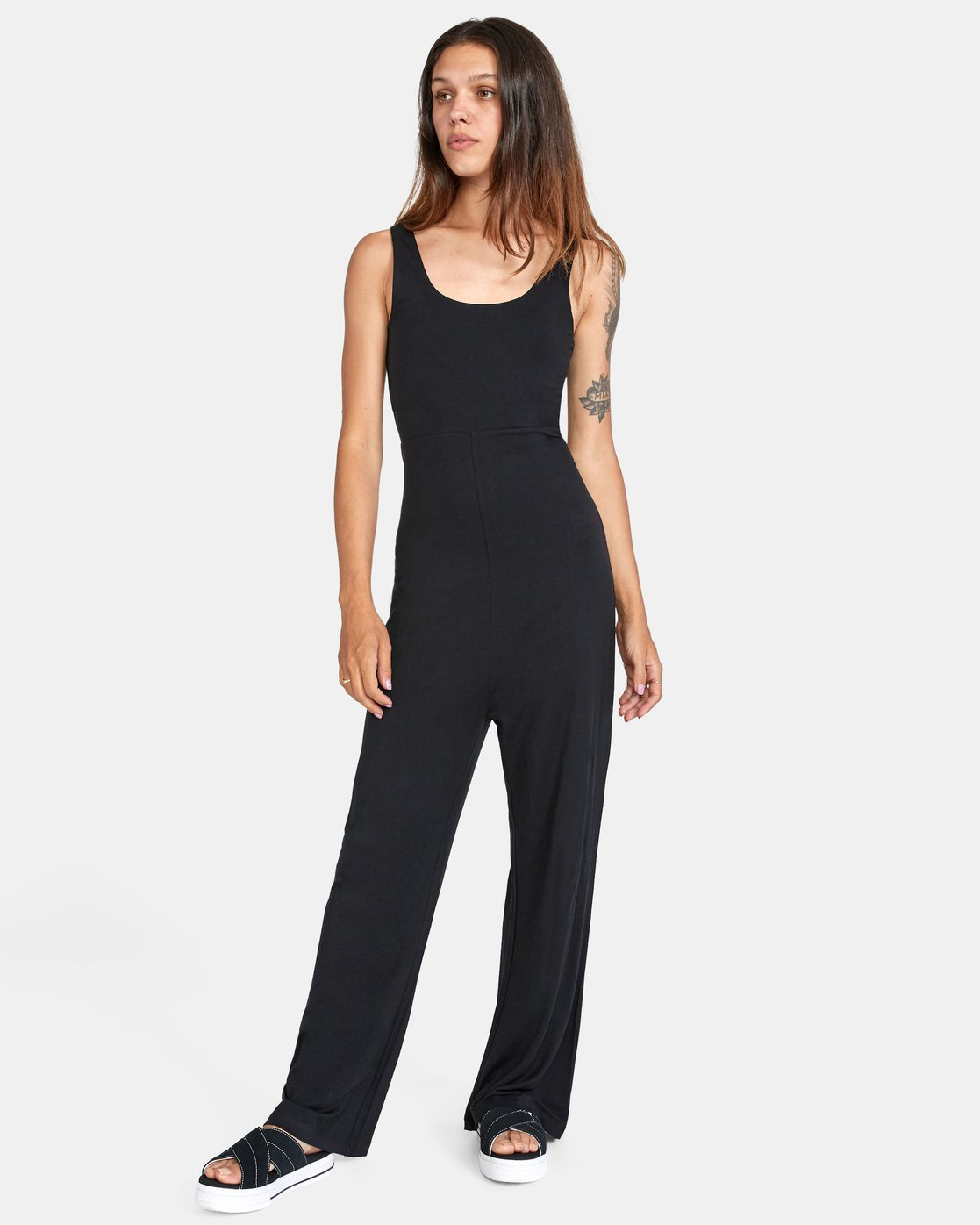 3 LUCKY NIGHT KNIT JUMPSUIT White AVJTO00111 RVCA