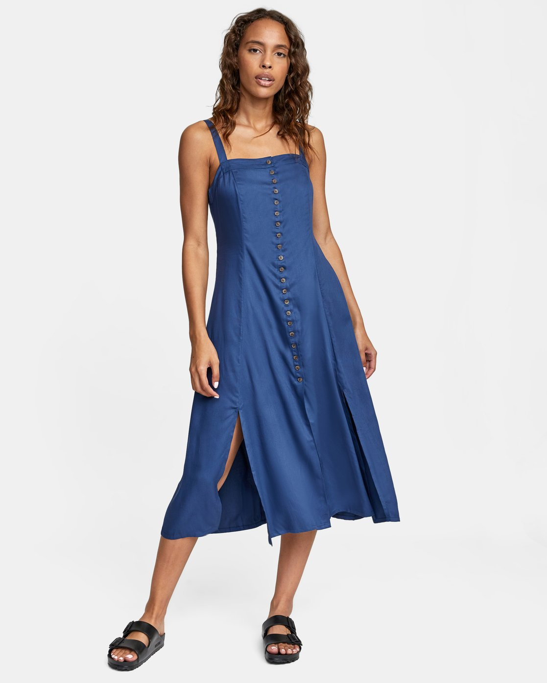 2 JETHRO MIDI DRESS Blue AVJWD00140 RVCA