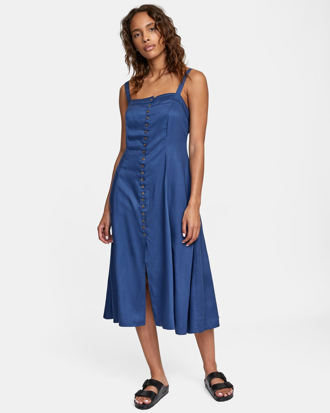 3 JETHRO MIDI DRESS Blue AVJWD00140 RVCA