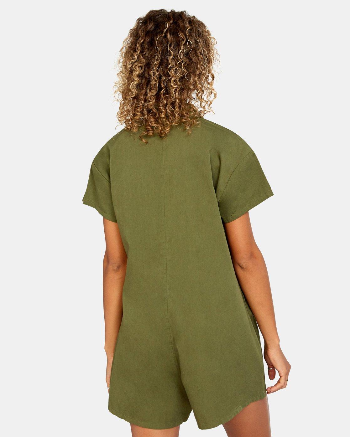 1 Go Green Romper Brown AVJWD00150 RVCA