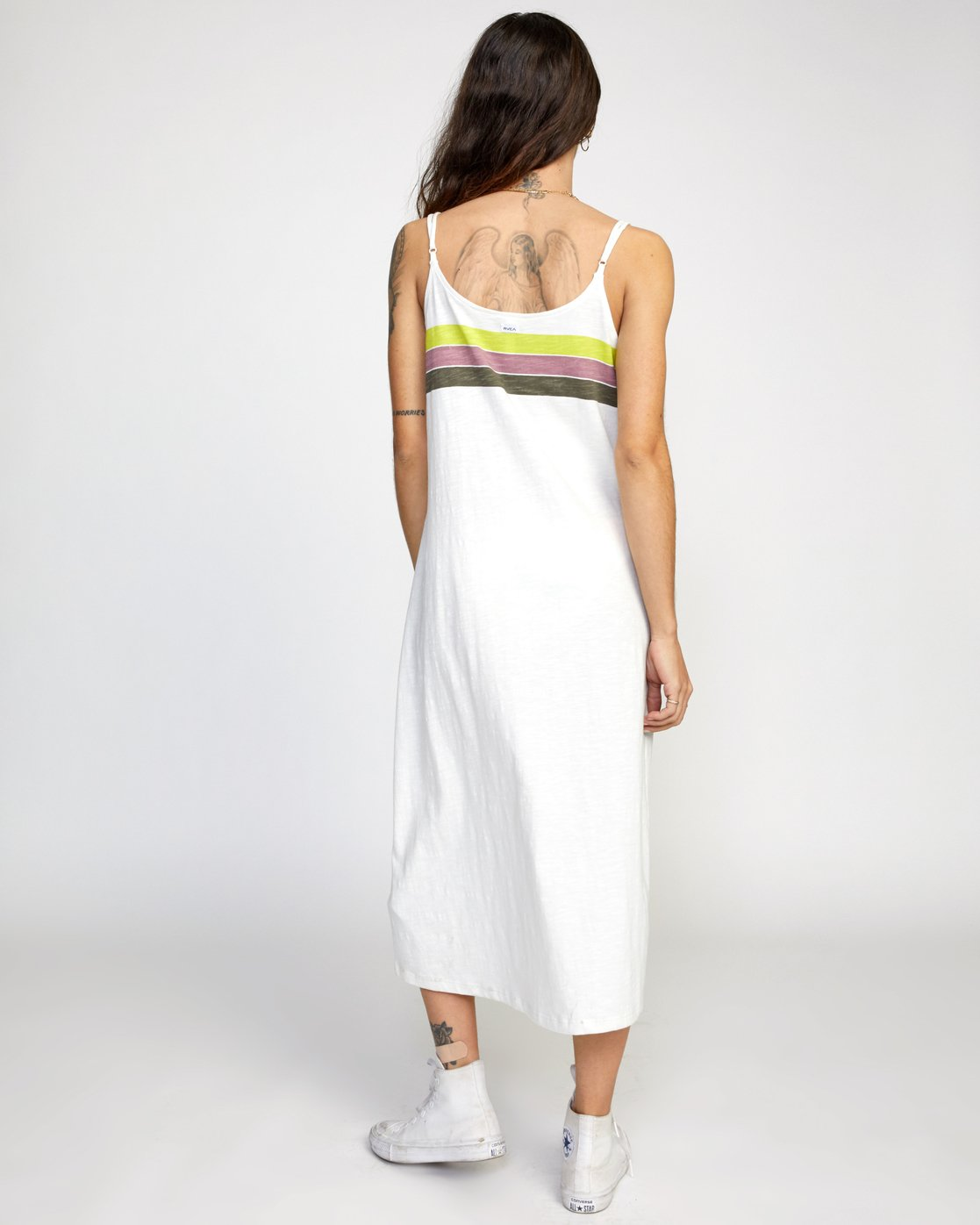 1 SELMA MIDI DRESS White AVJWD00153 RVCA