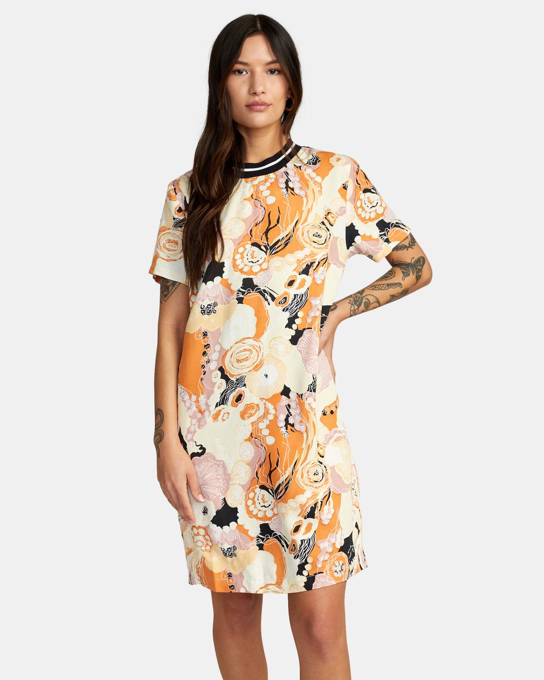 1 Tomboy Dress Orange AVJWD00159 RVCA