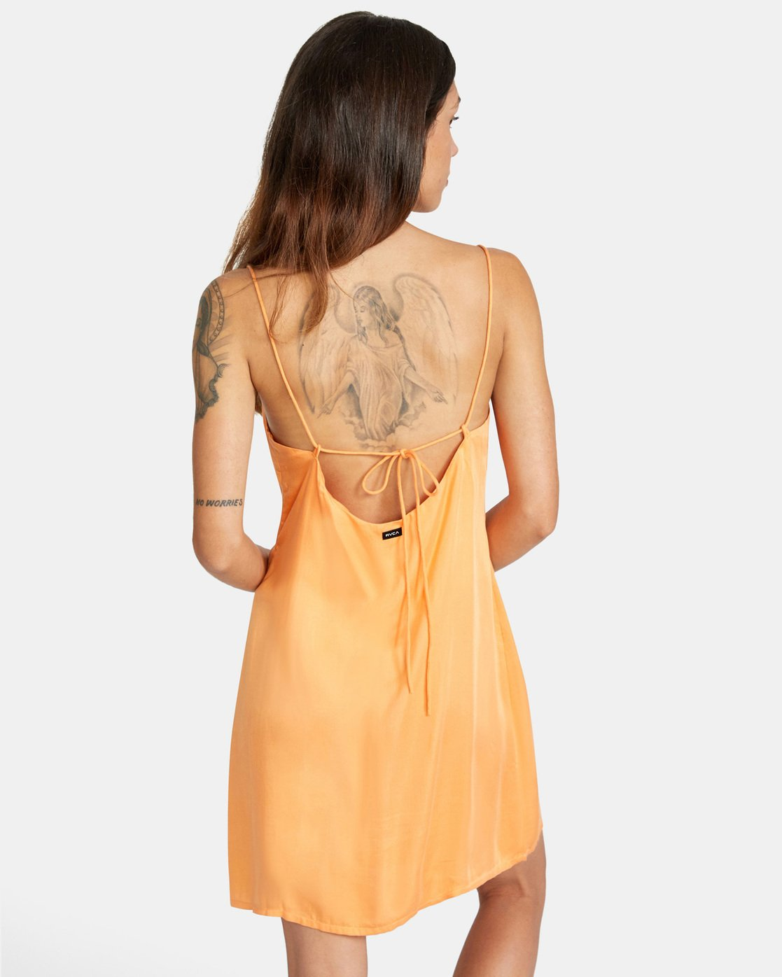 1 Out There Dress Orange AVJWD00168 RVCA