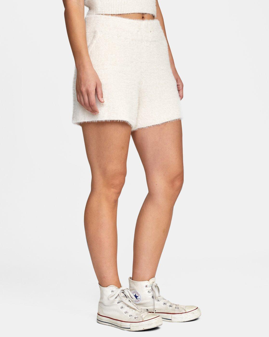 6 Cabin Fever Knit Short White AVJWH00103 RVCA