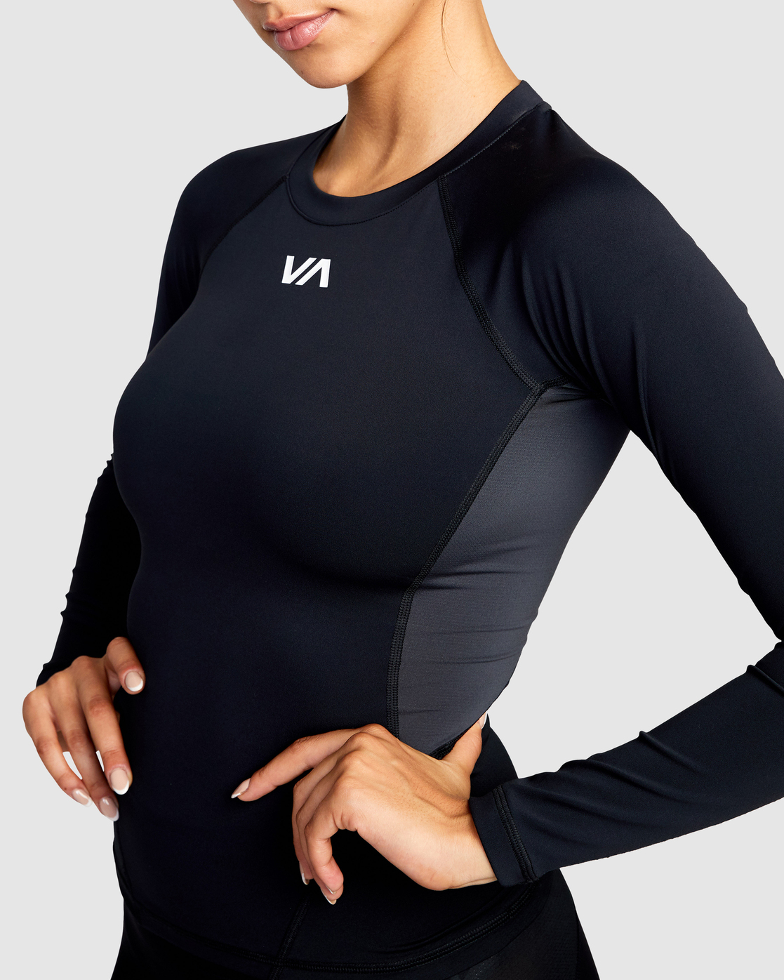 2 COMPRESSION LONG SLEEVE SPORT TOP Black AVJWR00100 RVCA