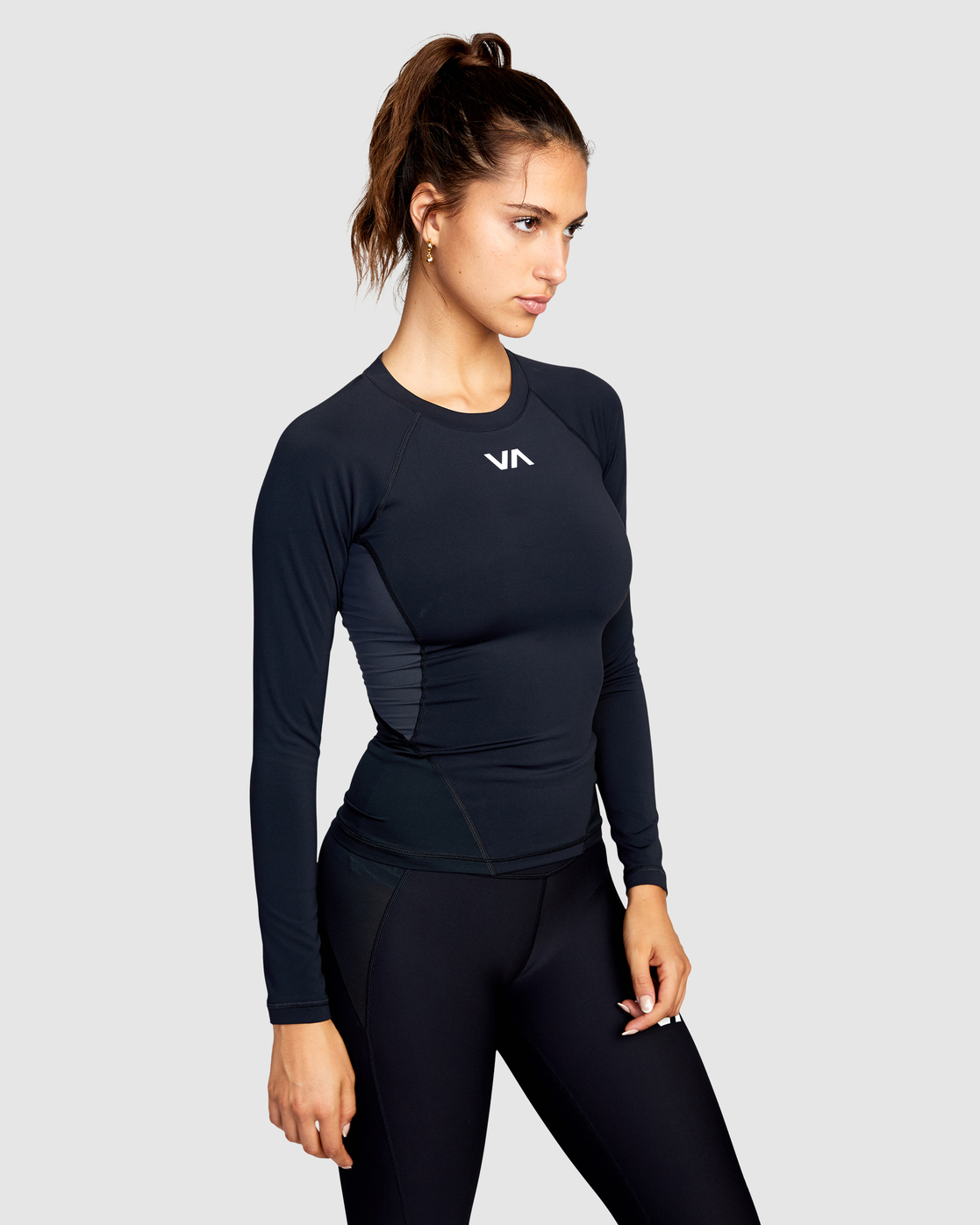 4 COMPRESSION LONG SLEEVE SPORT TOP Black AVJWR00100 RVCA