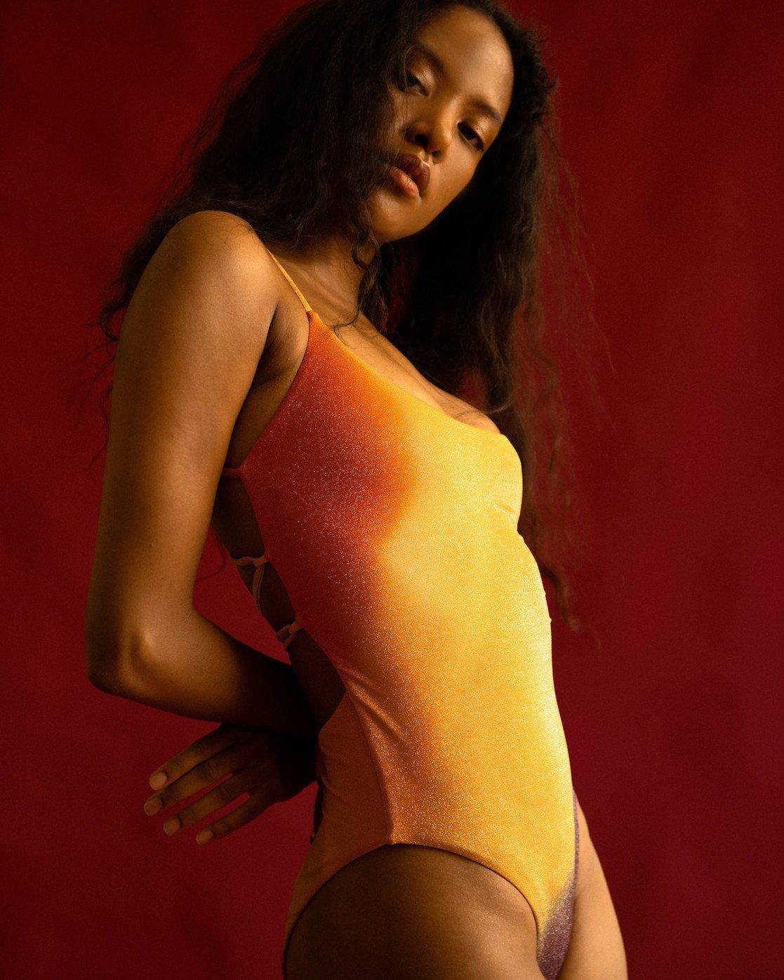0 Trippy Dana Cheeky One Piece Swimsuit Grey AVJX100112 RVCA