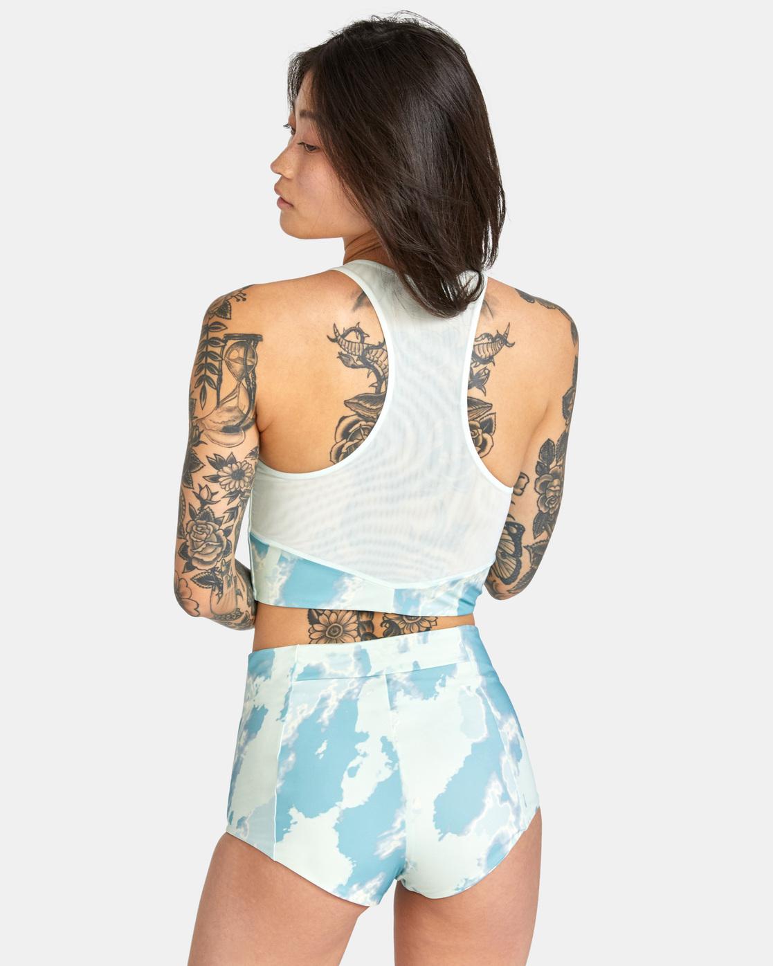 1 Wavelength Zip Top Bikini Top Blue AVJX300183 RVCA