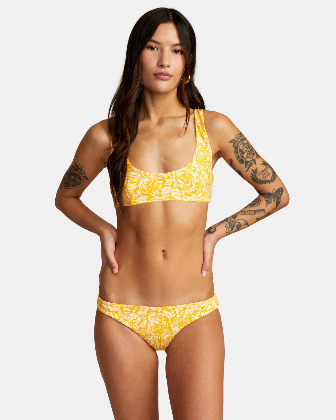 0 Forever Bralette Bikini Top Yellow AVJX300188 RVCA