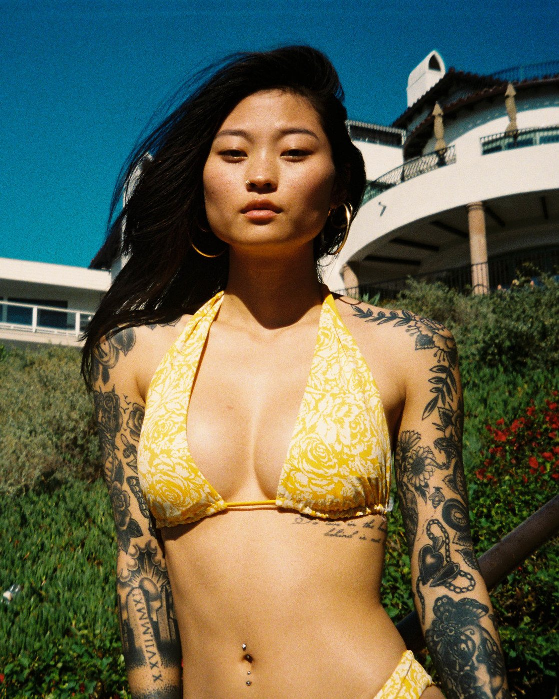 0 Forever Halter Bikini Top Yellow AVJX300189 RVCA