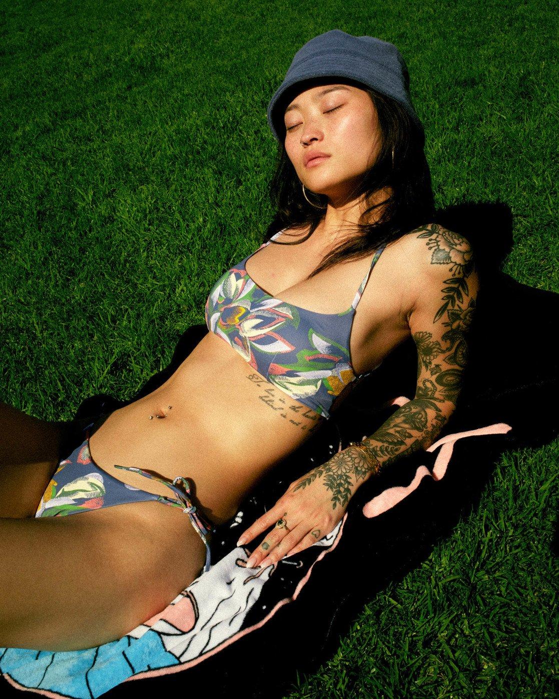 0 Pixie Crossback Bikini Top Blue AVJX300192 RVCA
