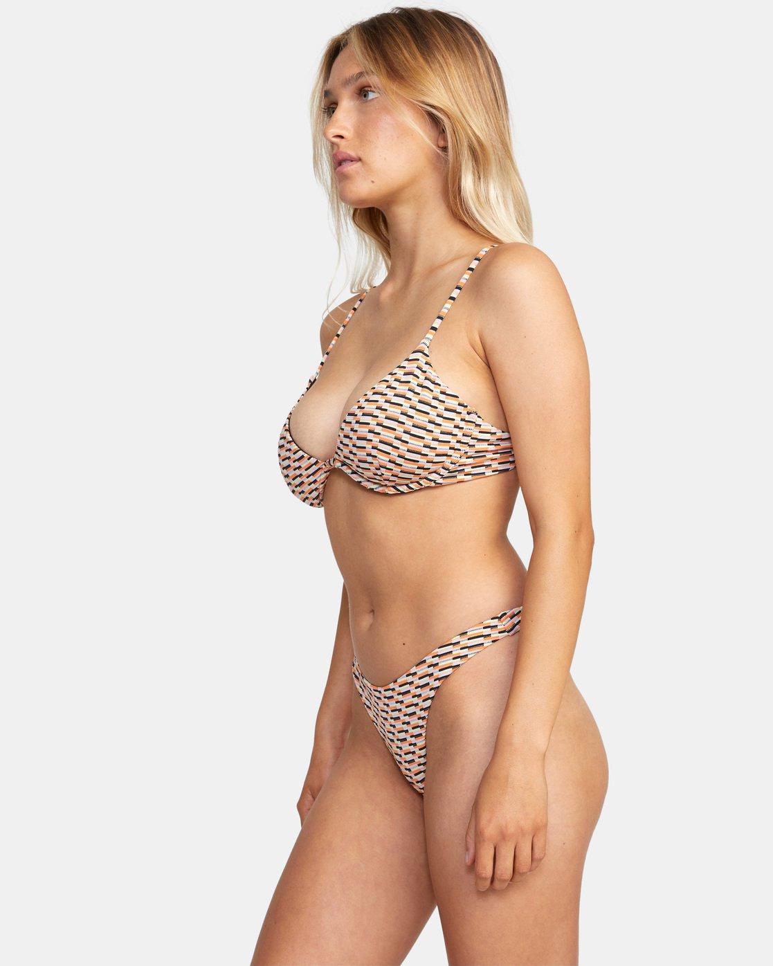 3 Cosmic Way Underwire D-Cup Bikini Top White AVJX300201 RVCA
