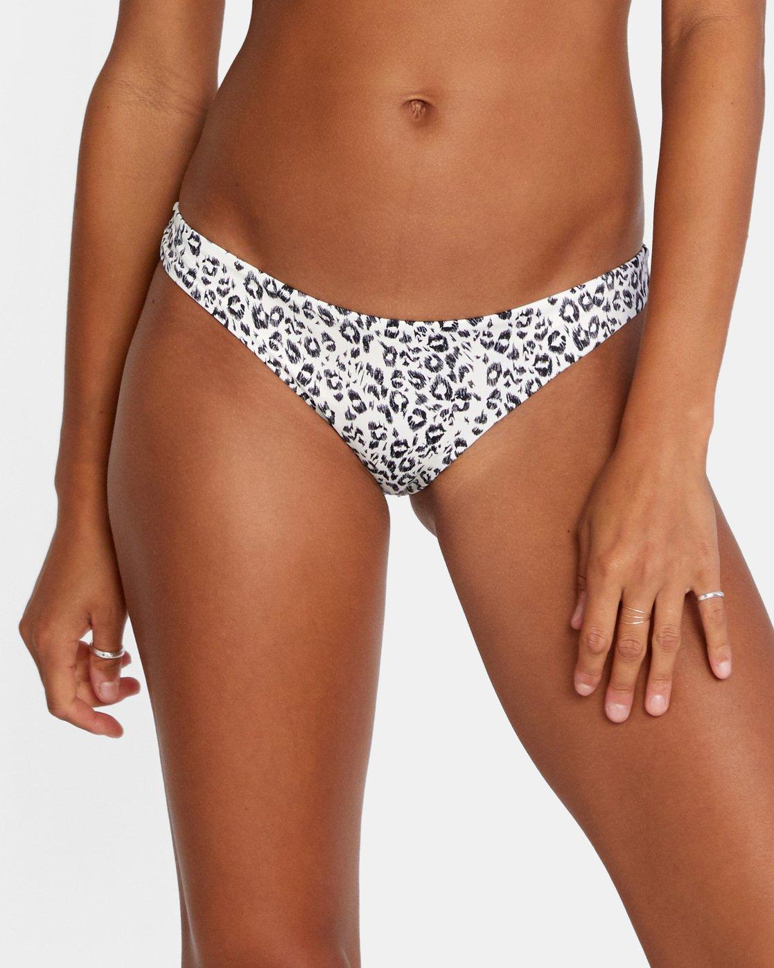 4 Animal Instincts Cheeky Bikini Bottom White AVJX400126 RVCA