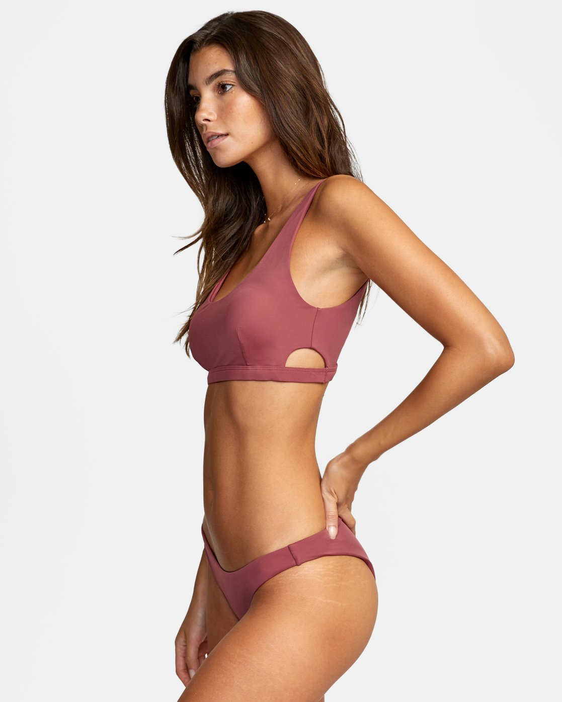 3 SOLID MEDIUM BIKINI BOTTOM Purple AVJX400130 RVCA