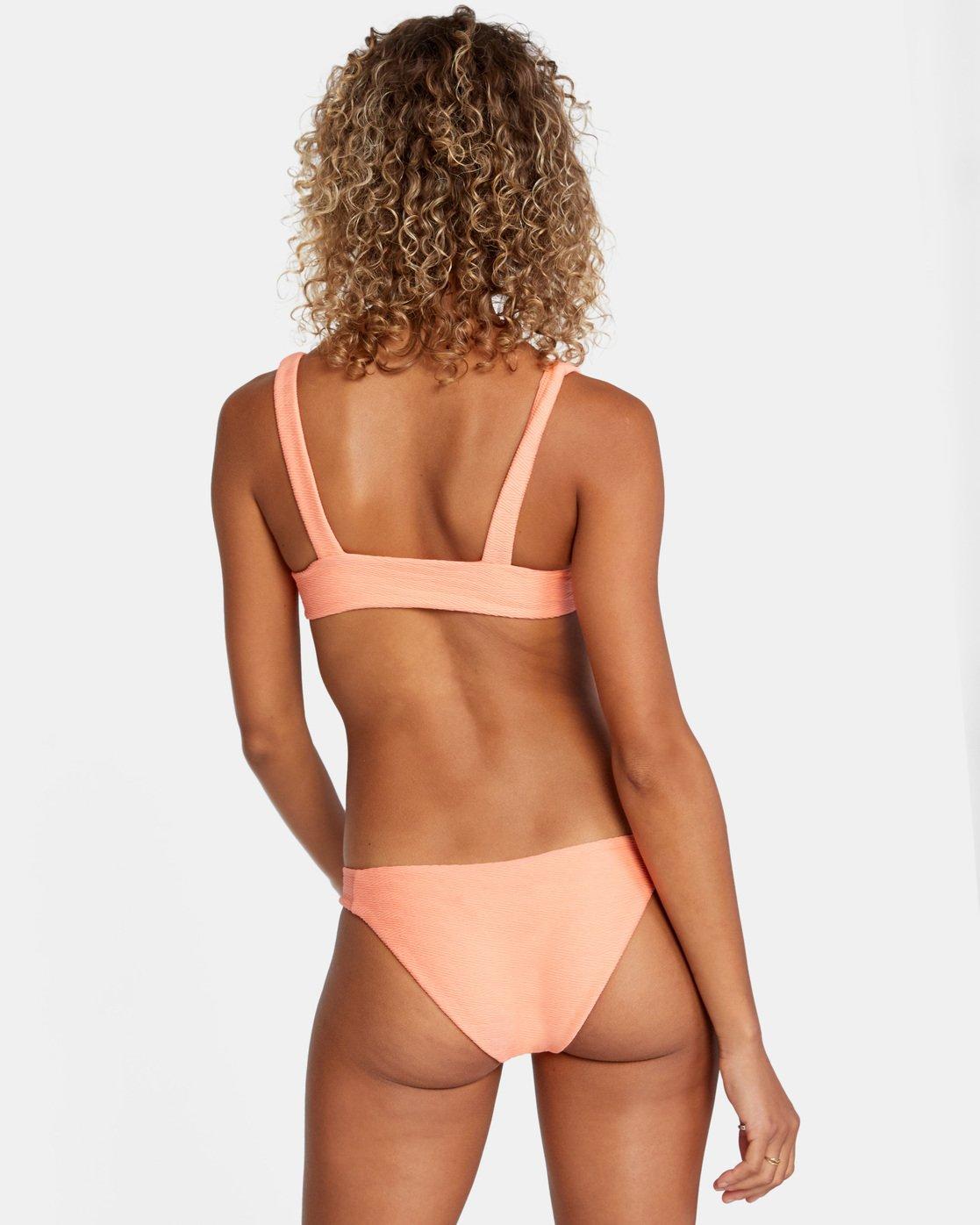 0 La Jolla Medium Bikini Bottom Orange AVJX400173 RVCA