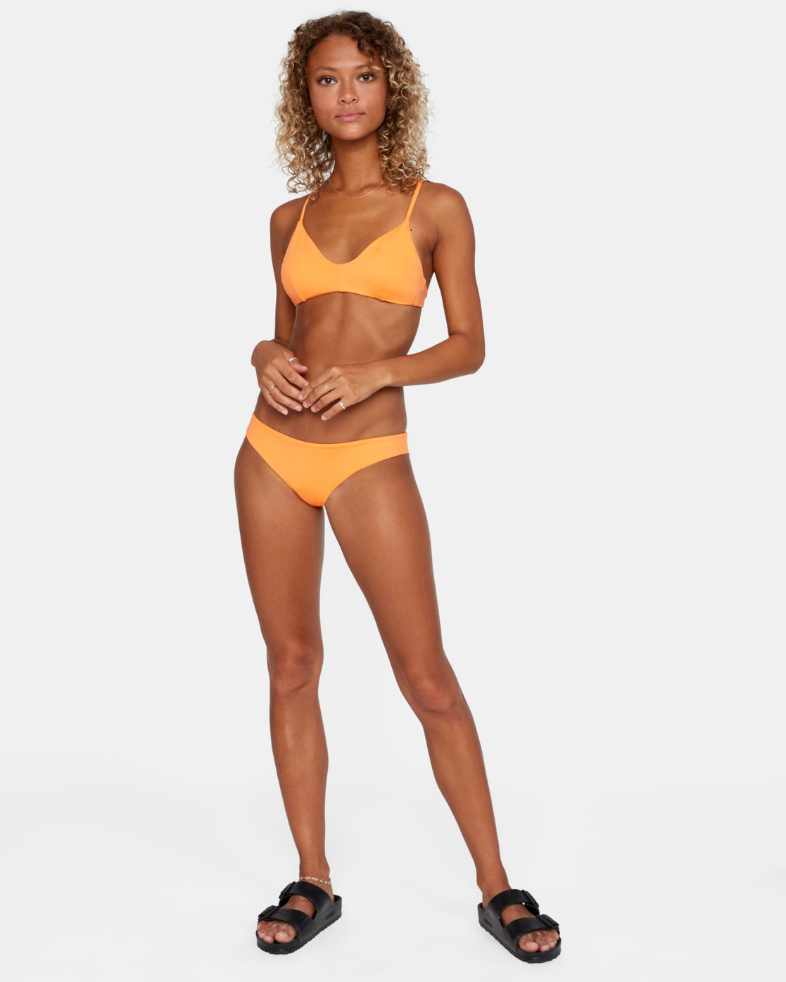 2 SOLID CHEEKY BIKINI BOTTOM Orange AVJX400189 RVCA