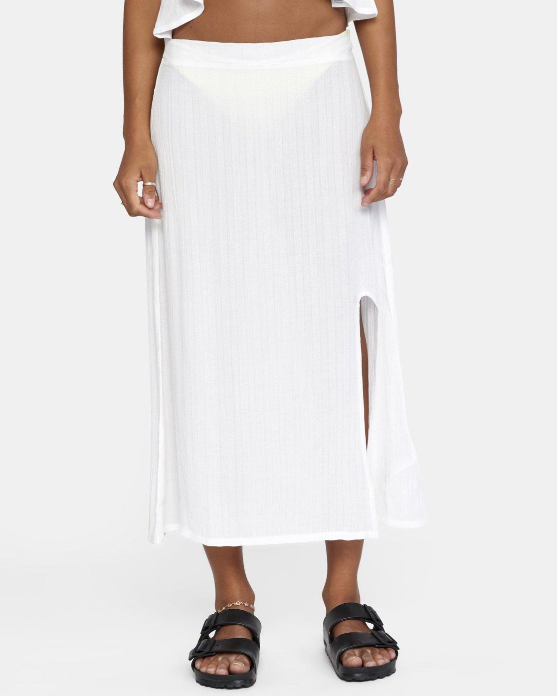 0 After Hours Skirt White AVJX600112 RVCA