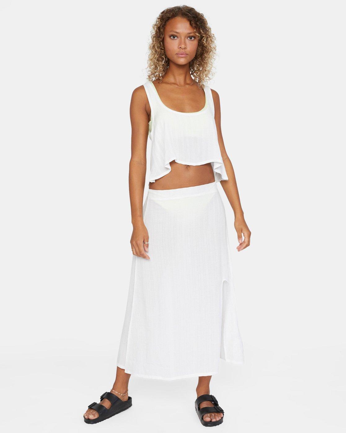 2 After Hours Skirt White AVJX600112 RVCA
