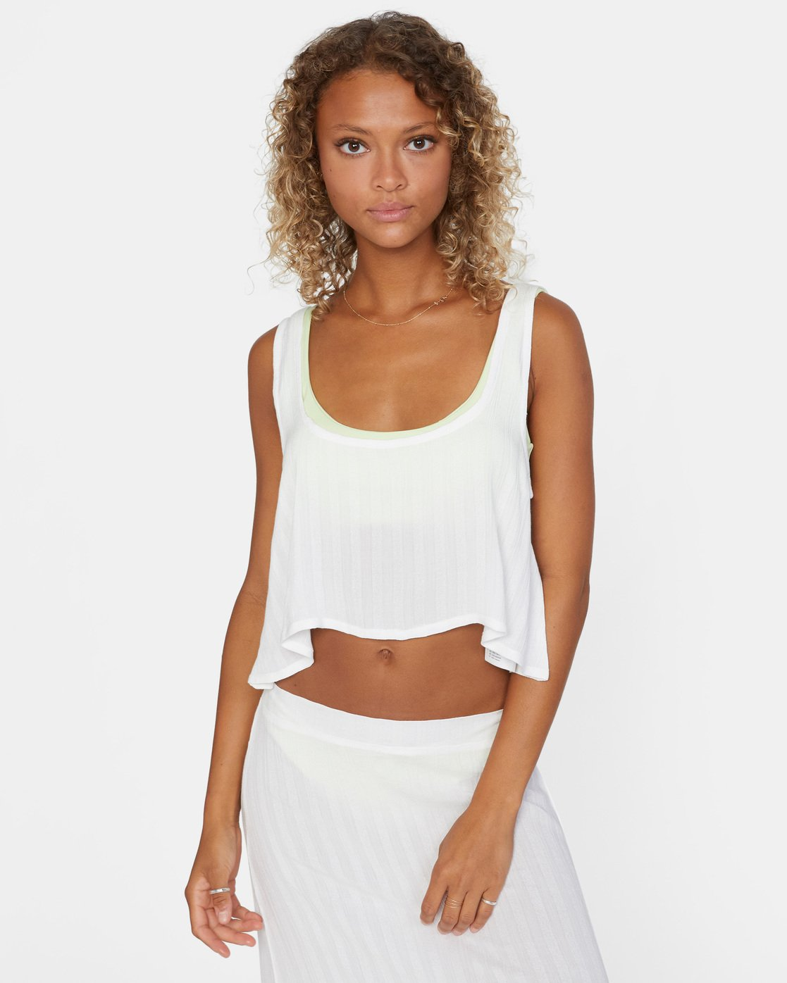 2 After Hours Top White AVJX600113 RVCA
