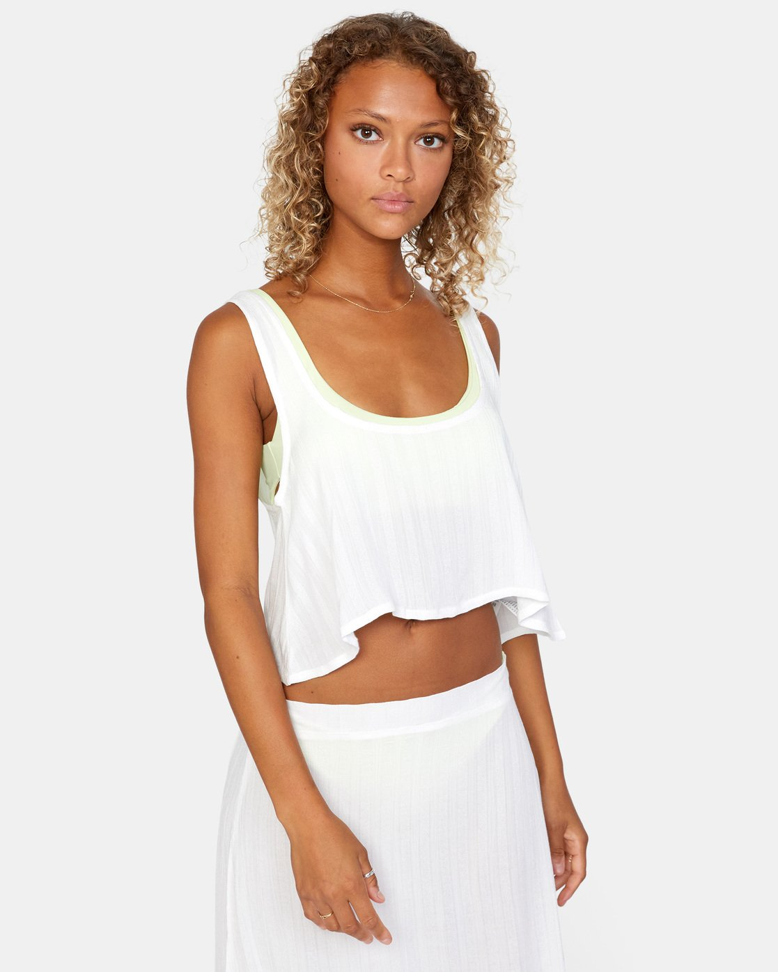 6 After Hours Top White AVJX600113 RVCA